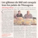 CMJ makes front page in the Midi Libre